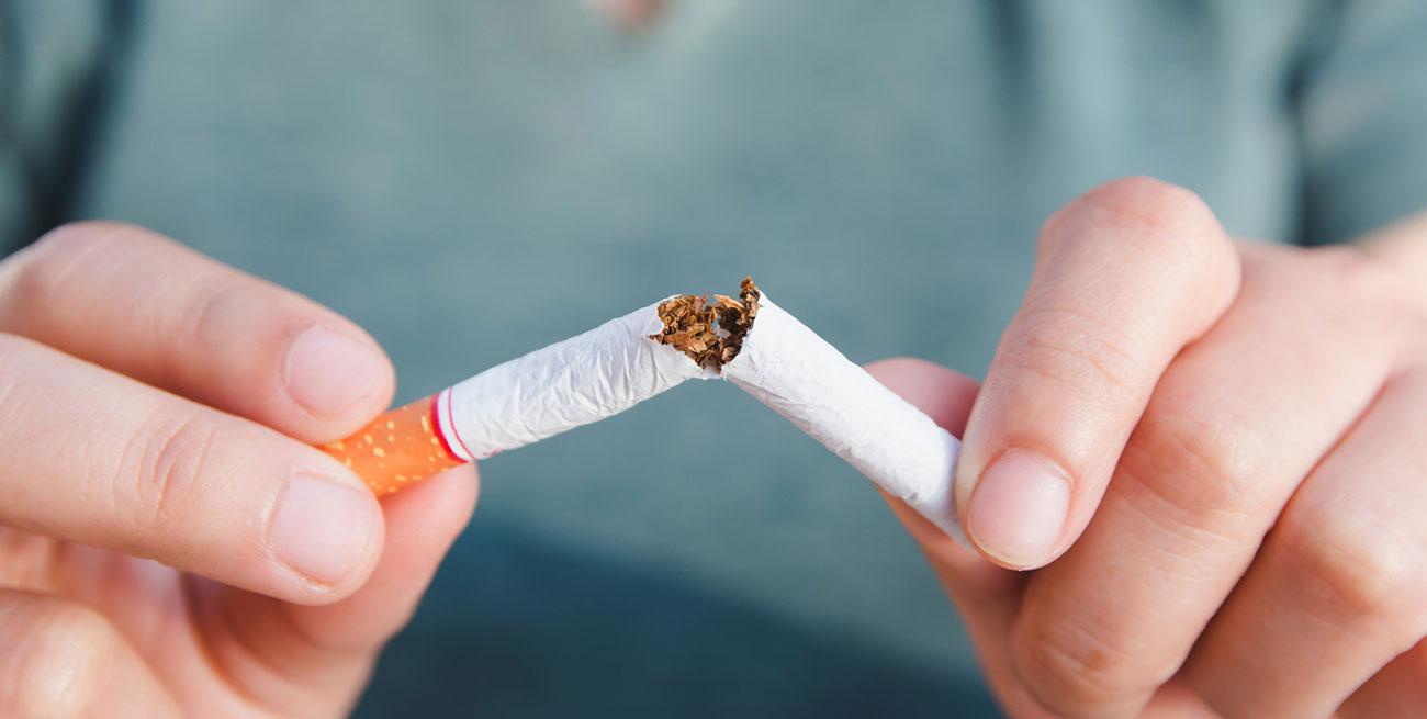 Cigarro quebrado ao meio